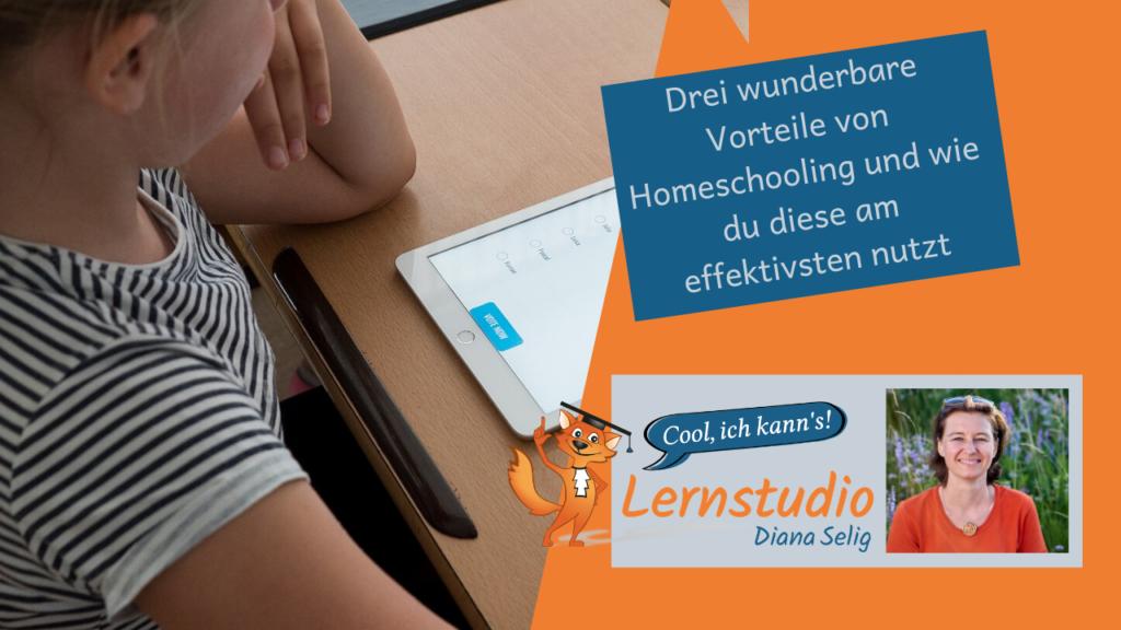 Homeschooling - Kind lernt mit Tablet